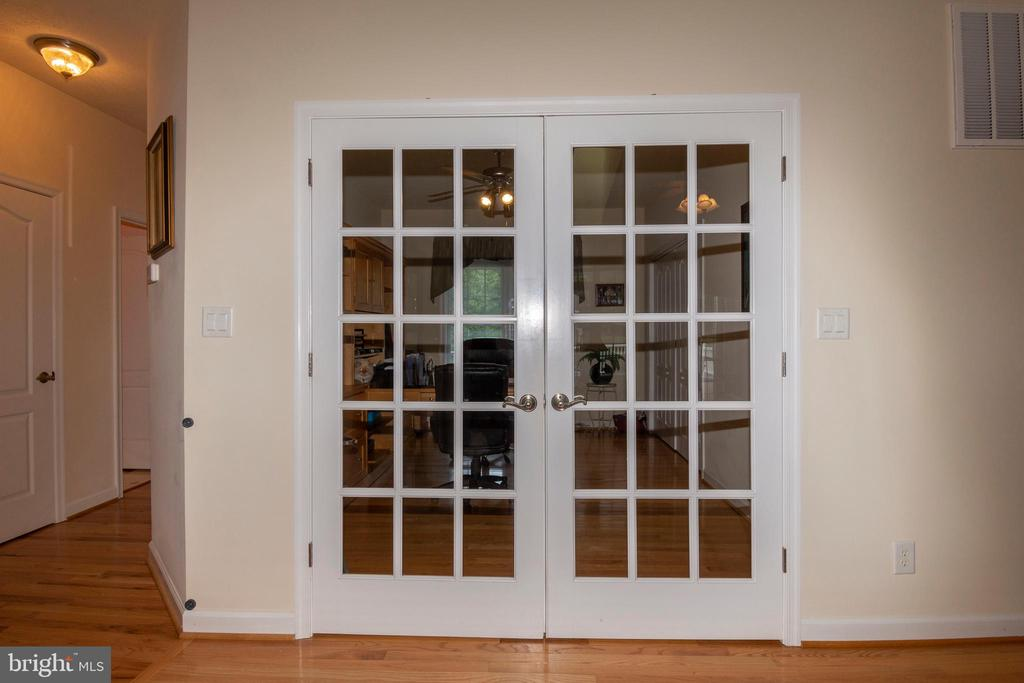 French doors into office - 6421 ROBINSON RD, SPOTSYLVANIA