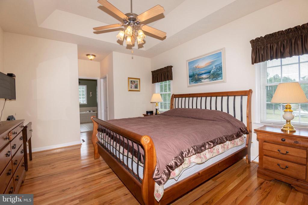 Master Bedroom with hard wood floors - 6421 ROBINSON RD, SPOTSYLVANIA