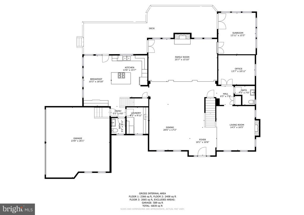 Main Level 2D floor plan 27 Meridan - 27 MERIDAN LN, STAFFORD