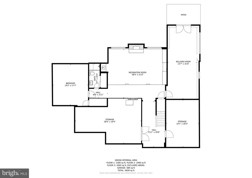 Lower level 2D floor plan 27 Meridan - 27 MERIDAN LN, STAFFORD