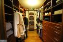Walk-in Closet with professional organizer! - 9919 MACARTHUR BLVD, BETHESDA