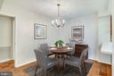 Staged as Dining Rm.;Flr. Plan label is