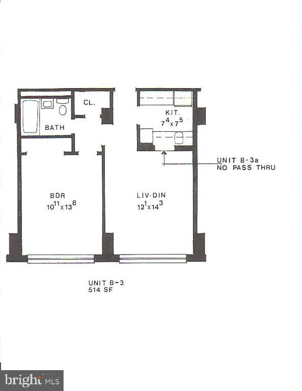 Floor plan - 1121 ARLINGTON BLVD #509, ARLINGTON