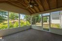 Screened Porch Towards Door to Yard - 17416 CELEBRATION WAY, DUMFRIES