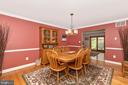 Formal Dining Room - 4126 LARSON LN, MOUNT AIRY
