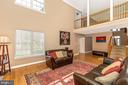 2 story Family room with overlook - 4126 LARSON LN, MOUNT AIRY