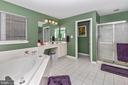 Massive master bathroom - 4126 LARSON LN, MOUNT AIRY