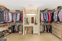 massive master suite walk in closet - 4126 LARSON LN, MOUNT AIRY