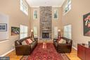 Elegant stone gas fireplace - 4126 LARSON LN, MOUNT AIRY