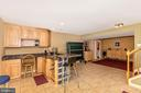 Built in wet bar - 4126 LARSON LN, MOUNT AIRY