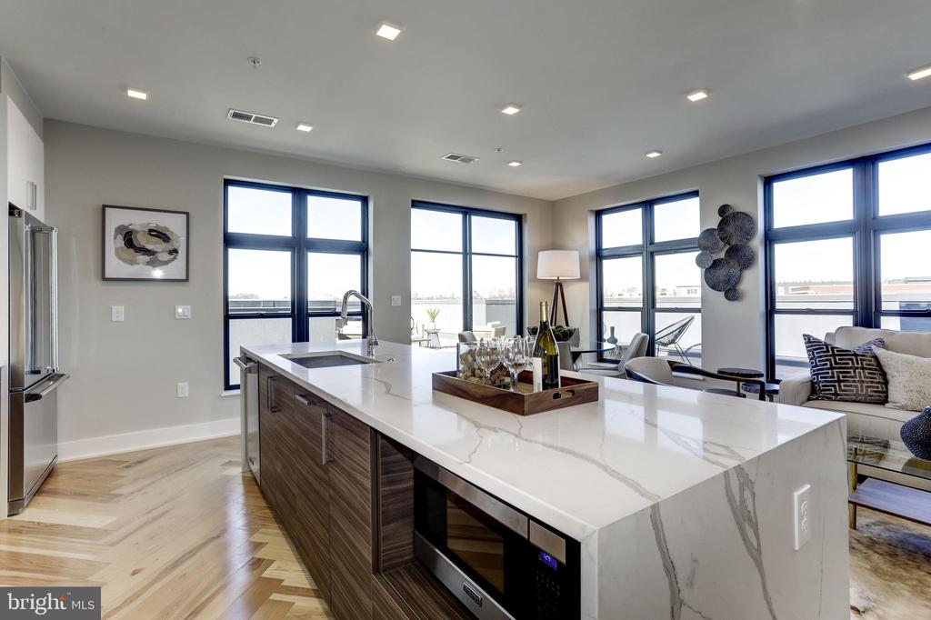 Lots of windows and light - 1345 K ST SE #PH1, WASHINGTON
