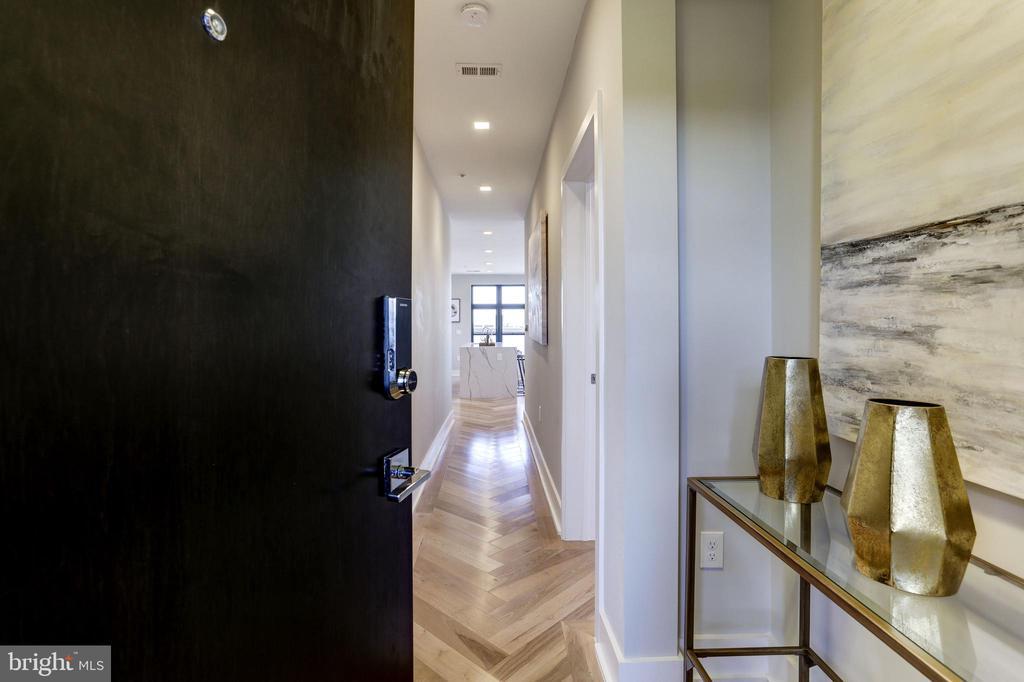 Custom herringbone hickory floors welcome you - 1345 K ST SE #PH1, WASHINGTON