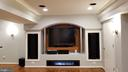 basement mini-theatre with ceiling speakers - 8995 PARLIAMENT DR, BURKE