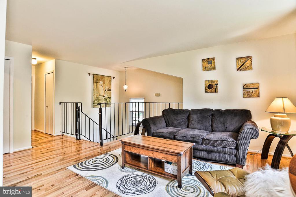 Living Room with hardwood floors - 10011 DOWNEYS WOOD CT, BURKE