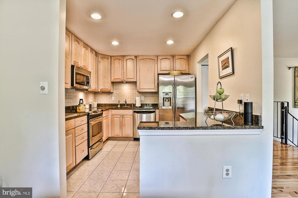 Updated Kitchen with recessed lighting - 10011 DOWNEYS WOOD CT, BURKE