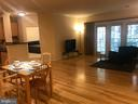 View from foyer to dining room and living room - 11800 OLD GEORGETOWN RD #1208, ROCKVILLE