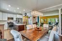 Dining Area With Crown Molding - 46705 CAVENDISH SQ, STERLING