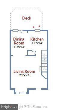 Main Level Floor Plan - 46705 CAVENDISH SQ, STERLING