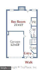 Lower Level Floor Plan - 46705 CAVENDISH SQ, STERLING
