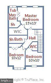 Upper Level Floor Plan - 46705 CAVENDISH SQ, STERLING