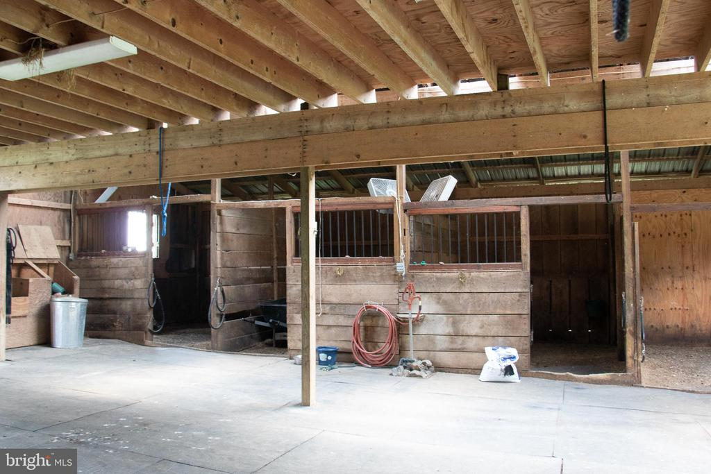 stalls in barn - 36180 TURKEY ROOST RD, MIDDLEBURG