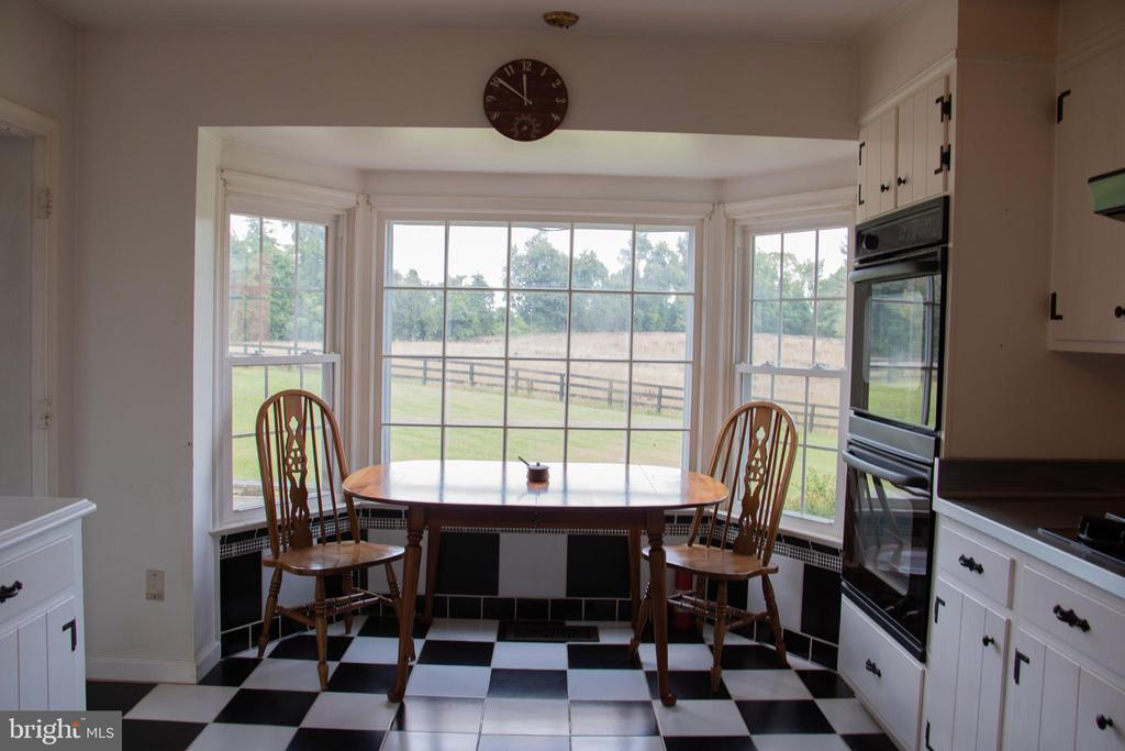 Kitchen with bay window - 36180 TURKEY ROOST RD, MIDDLEBURG