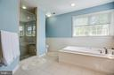 Modern Soaking tub & tiled Walk in Shower. - 56 KIRBY LN, STAFFORD