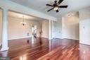 Gorgeous cherry hardwoods throughout main level - 25288 MCINTYRE SQ, CHANTILLY
