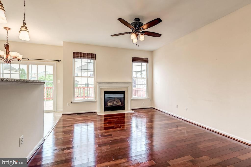 Family room next to eat in kitchen - 25288 MCINTYRE SQ, CHANTILLY