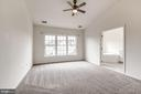 Spacious master suite - 25288 MCINTYRE SQ, CHANTILLY