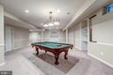 Billiard Room w/ Custom Built Ins - 43397 BALLANTINE PL, ASHBURN