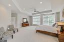 Master Bedroom- Tray ceiling + recessed lighting - 43353 VESTALS PL, LEESBURG