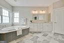 Spa features include soaking tub and ... - 43353 VESTALS PL, LEESBURG