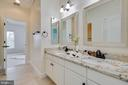 Newly renovated dual entry bathroom - 43353 VESTALS PL, LEESBURG