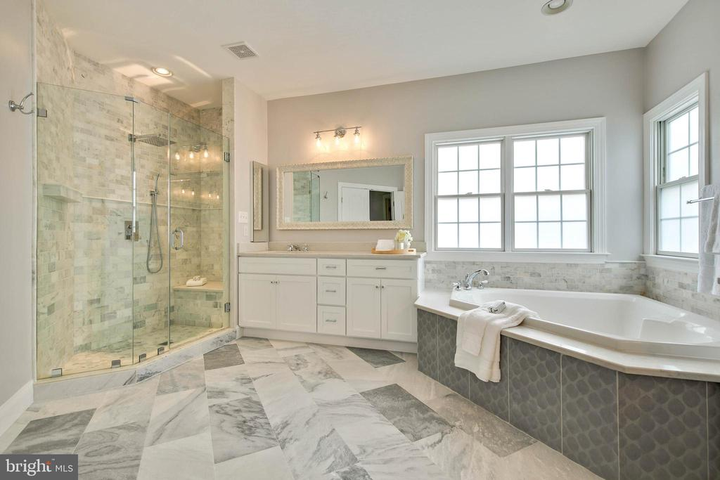 Separate shower in the Master Bath - 43353 VESTALS PL, LEESBURG