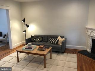 Living room from front door, hardwood floors - 1759 HOBART ST NW, WASHINGTON
