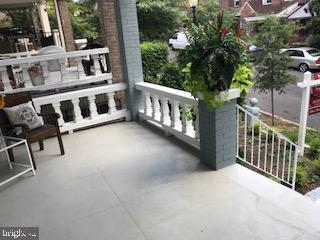 Porch view onto quiet Hobart Street - 1759 HOBART ST NW, WASHINGTON