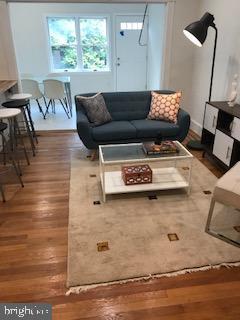 refinished hardwood floors, solarium in the rear - 1759 HOBART ST NW, WASHINGTON