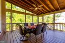 Outdoor Deck with Enclosed Screens - 9520 PENIWILL DR, LORTON