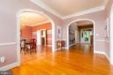 Center Hall Foyer with Gleaming Hardwoods - 9520 PENIWILL DR, LORTON