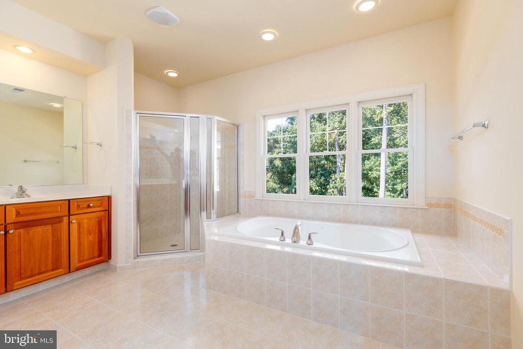 Master Bathroom with Separate Soaking Tub - 9520 PENIWILL DR, LORTON