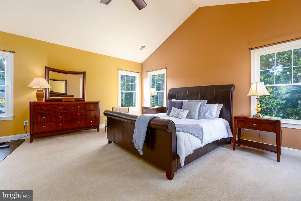 Master Bedroom with Vaulted Ceilings - 9520 PENIWILL DR, LORTON