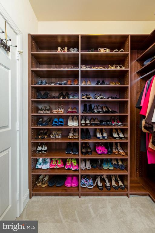 Shoe Wall from 1 of 2 Walk In Closets - 9520 PENIWILL DR, LORTON