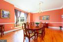 Formal Dining Room with Chair Rail and Mouldings - 9520 PENIWILL DR, LORTON