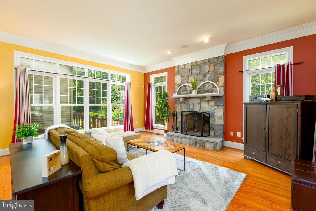 Beautiful Stone Accents Wood Burning Fireplace - 9520 PENIWILL DR, LORTON
