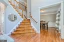Duel staircase (main entry & kitchen access) - 75 TOM JENKINS RD, FREDERICKSBURG