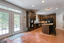 Eat in kitchen area w/ French doors to the deck - 75 TOM JENKINS RD, FREDERICKSBURG