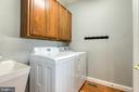 Laundry room off kitchen on main level - 75 TOM JENKINS RD, FREDERICKSBURG
