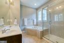 Master bath with soaking tub and walk in shower - 75 TOM JENKINS RD, FREDERICKSBURG