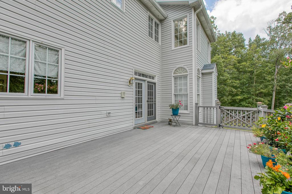 Easy access to the deck from the kitchen - 75 TOM JENKINS RD, FREDERICKSBURG